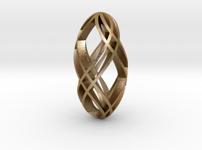 Steelbead Pendant 3d printed