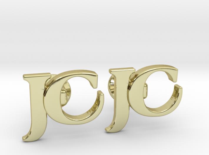 Monogram Cufflinks JC 3d printed