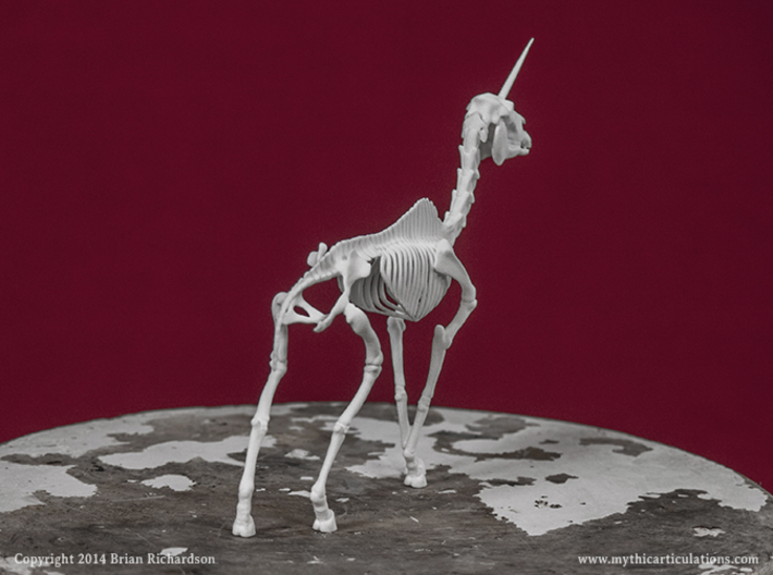Unicorn Skeleton 3d printed
