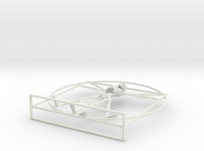 Vitruvian Man Skeleton 3d printed