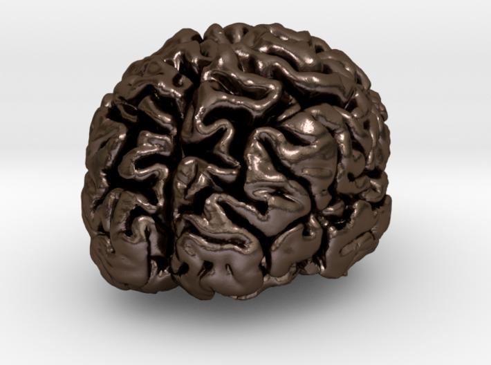 Precious metal brain pendant from MRI scan 3d printed