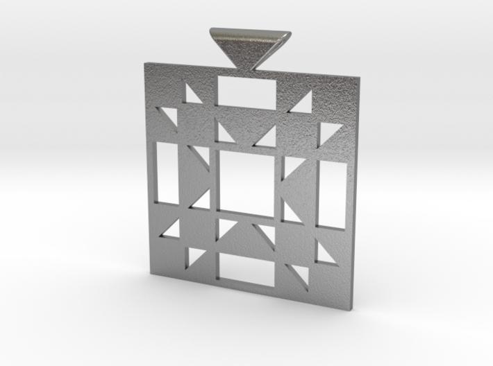 Amish Star Quilt Block Pendant 3d printed