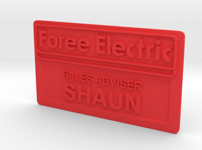 Shaun of the Dead Employee Name Tag 3d printed