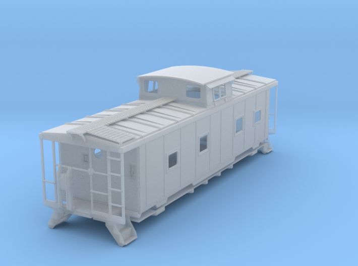 ACL M5 Caboose, split window - HO 3d printed