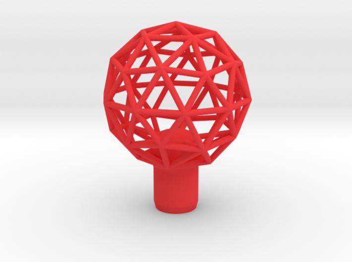 "Shift Knob Geodesic 12x1.25 2.25"" 3d printed"