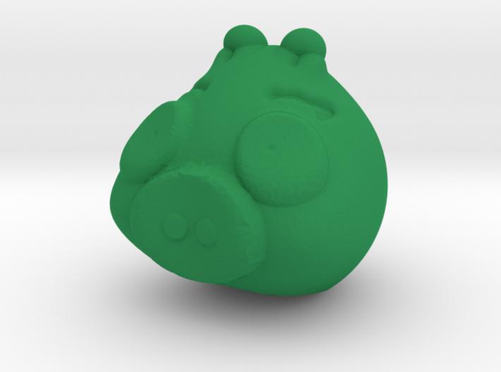 Green piggy 3d printed