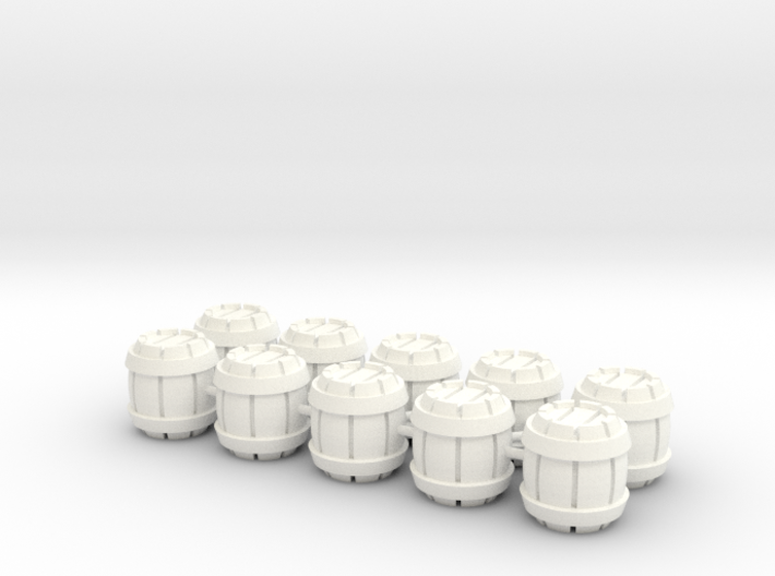 Barrels 10x10mm (10 pcs) 3d printed