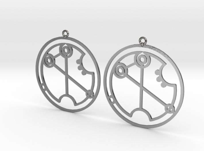 Virginia - Earrings - Series 1 3d printed
