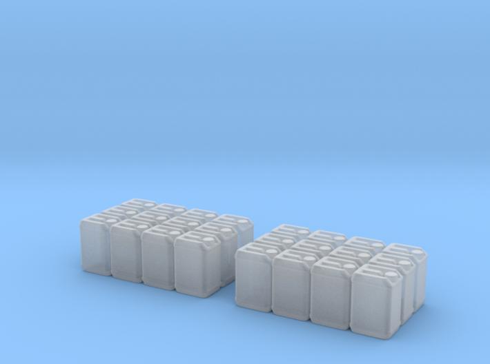 Blaue Kanister für Paletten 2Stück 3d printed