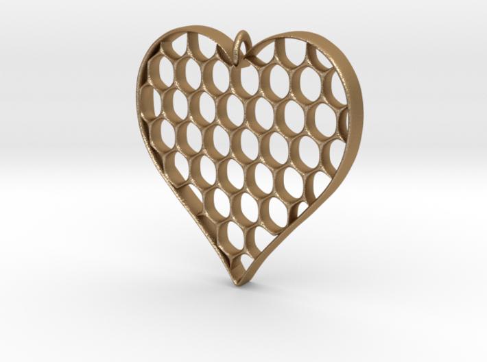 Honey Heart Pendant 3d printed