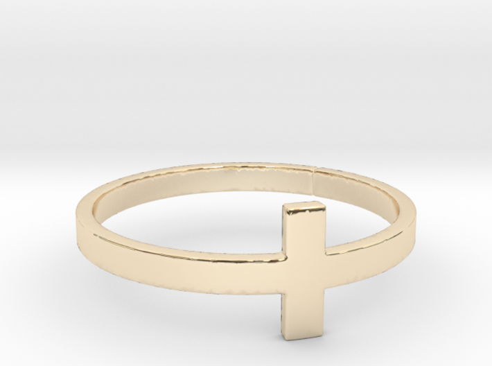 Cross Ring Size 8 3d printed