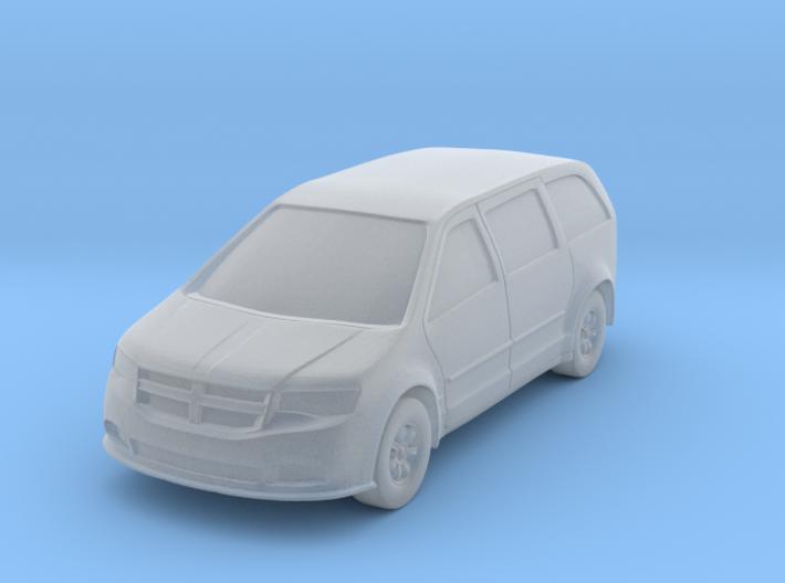 N Scale (1:160) Minivan Hollowed 3d printed