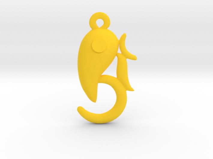 Modern Ganesha pendant 3d printed
