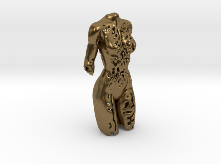 Female torso sculpture 3d printed
