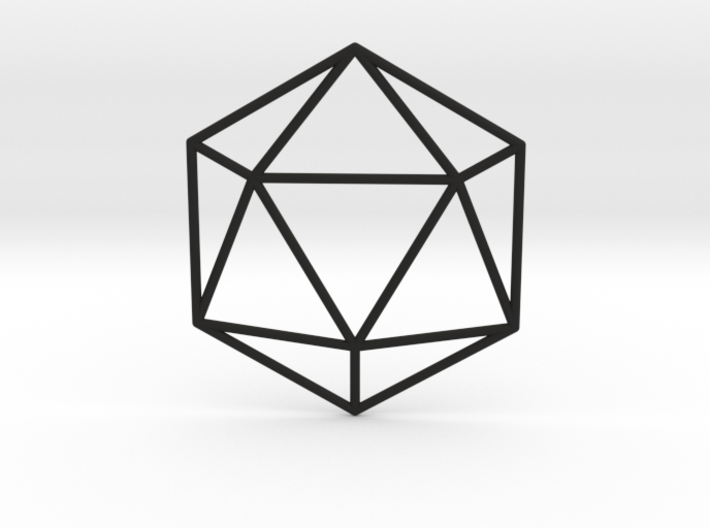 Icosahedron Wireframe 3d printed
