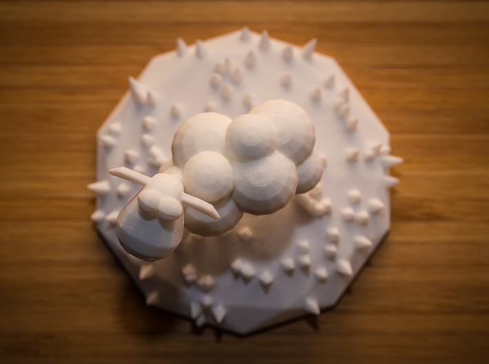 Funky sheep in a patch of funky grass 3d printed Sheep view from a falling missile..