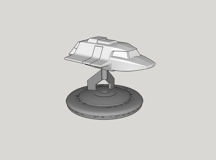 V Mothership Display Base v1 (Models to 1/64) 3d printed Example Application - Skyfighter NOT INCLUDED
