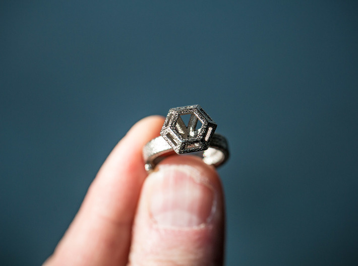 Diamond Ring US 7 3/4 3d printed