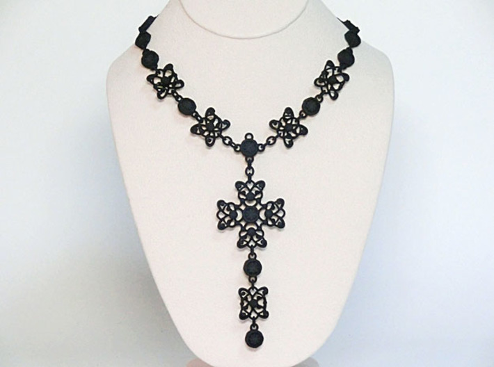 Gothic Cross Necklace Ⅱ 3d printed Add a caption...