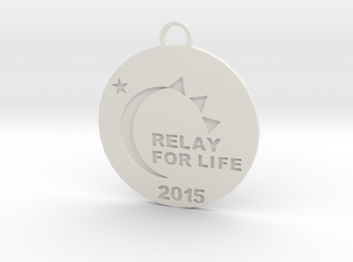 Relay for Life Keychain 3d printed