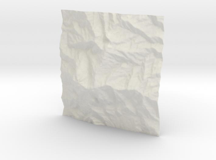 4''/10cm Mt. Kinabalu, Malaysia 3d printed