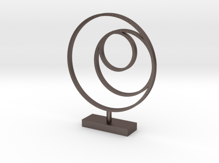 3 Circle Metal Art 1:12 scale modern art sculpture 3d printed