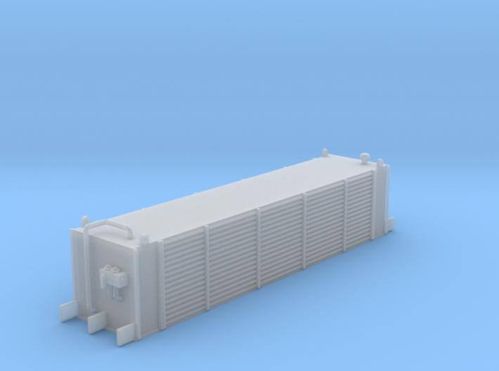 Sub Power Generator Flat Car Load Z Scale 3d printed Mobile power generator Z scale