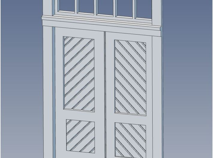 HO Scale Booking Station Standard Door Set 3d printed