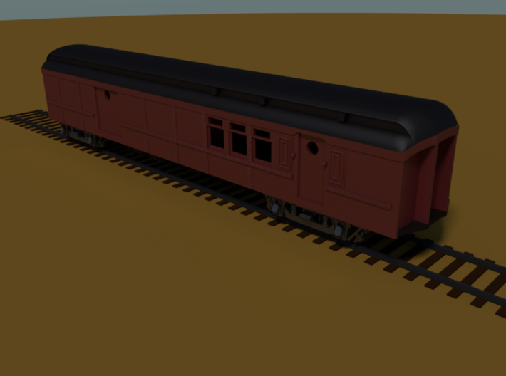 PRR BM70KA Baggage-Mail (shortened)(1/160) 3d printed Rendered in Blender