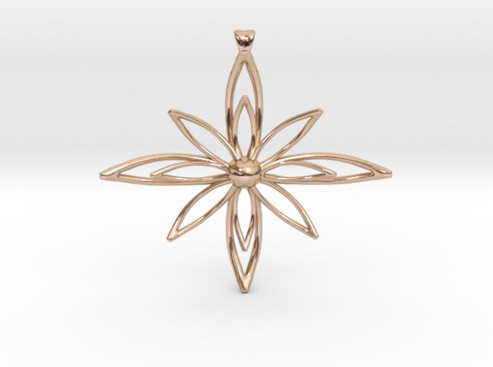 PETALIS Flower Petals design pendant 3d printed