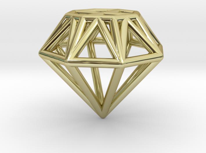 Diamond pendant | necklace | bracelet 3d printed