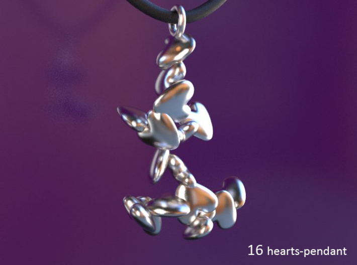 1 up to 55 hearts/ pendant series 3d printed