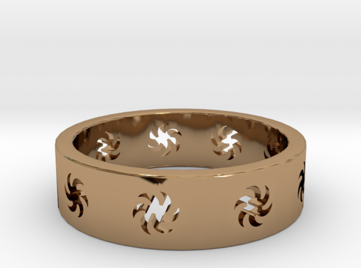 Sunburst Ring Size 5 3d printed