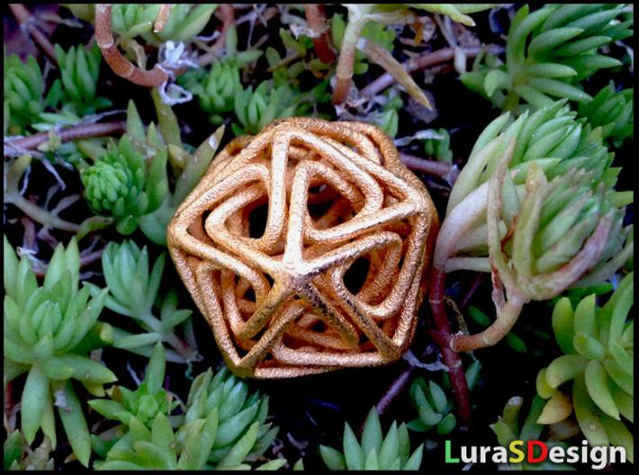 Crystal Star Pendant 3d printed printed in Gold Steel