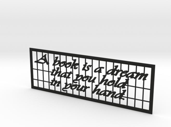 Quote Bookmark 3d printed