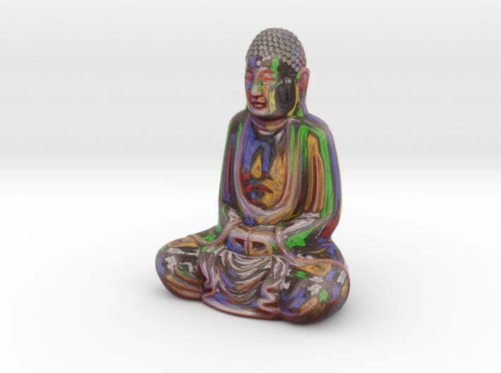 Textured Buddha: paint studio 3d printed