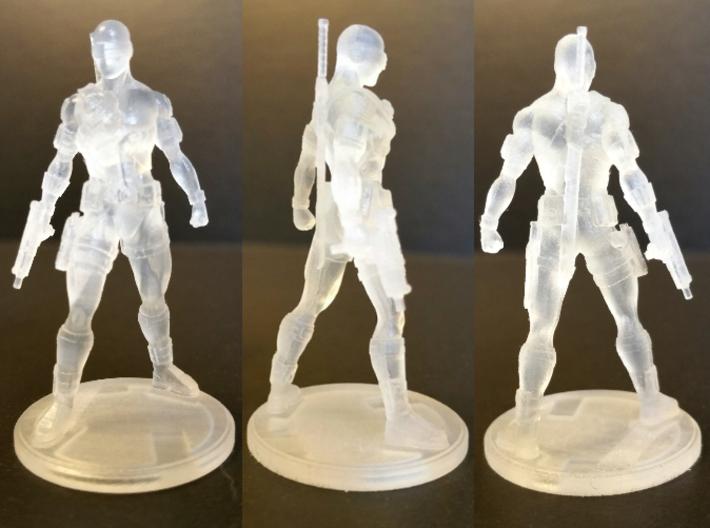 SNAKE EYES Of GI JOE 1.97 Inch Figure 3d printed Turnaround of Snake Eyes 1.97 inch Figure printed in Frosted Ultra Detail.