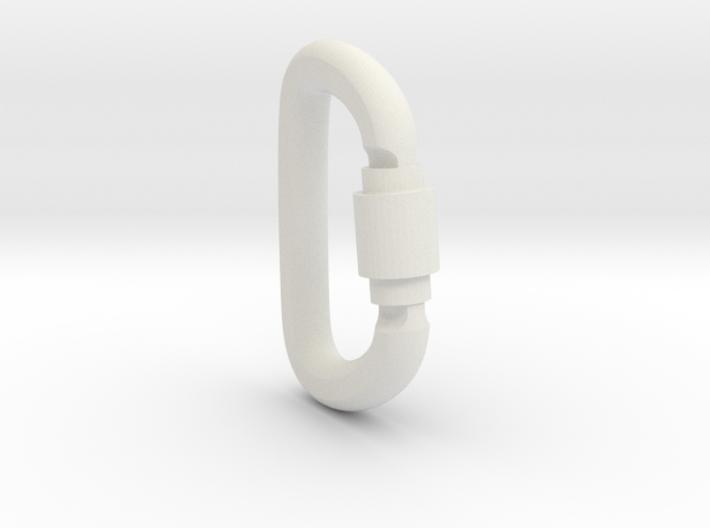 Carabiner Pendant (Large) 3d printed