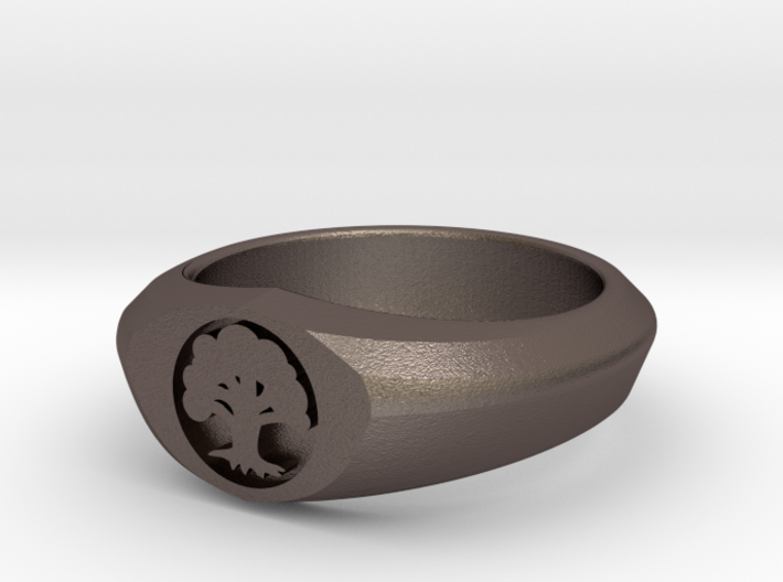MTG Forest Mana Ring (Size 15 1/2) 3d printed