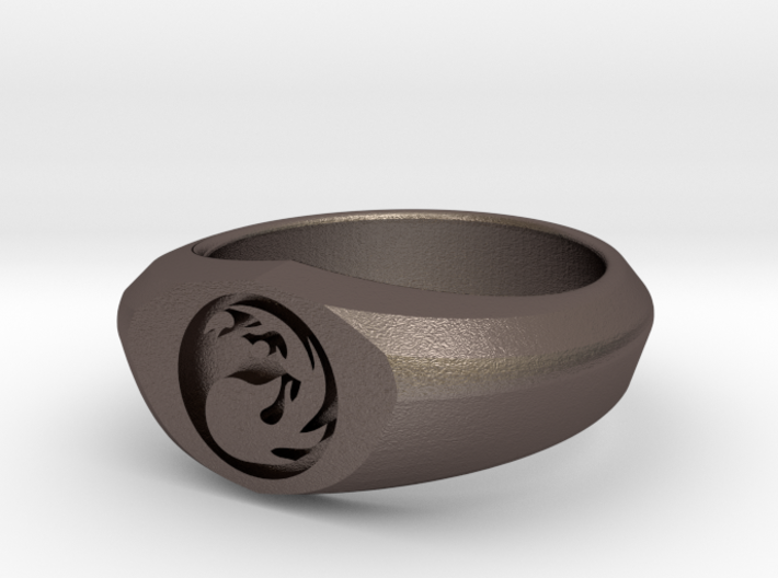MTG Mountain Mana Ring (Size 9) 3d printed