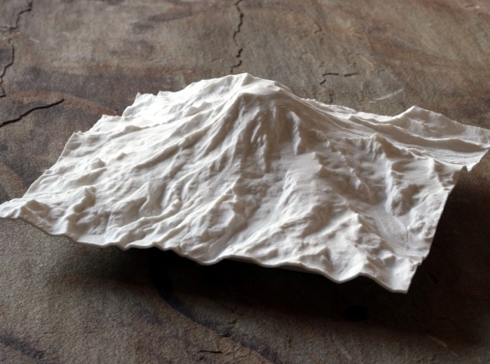 8'' Mt. Rainier Terrain Model, Washington, USA 3d printed Photo of model, looking North