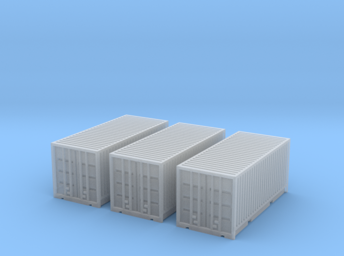 3 Containers for 6mm, 1/300 or 1/285 3d printed