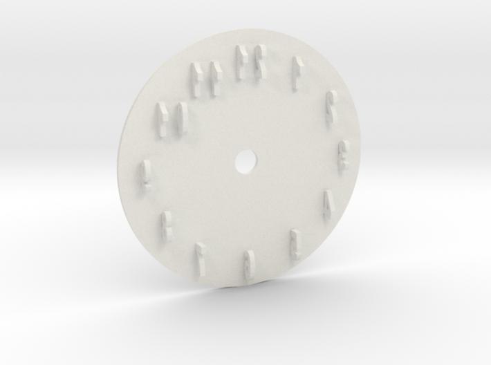 Sun Dial Clock 3d printed
