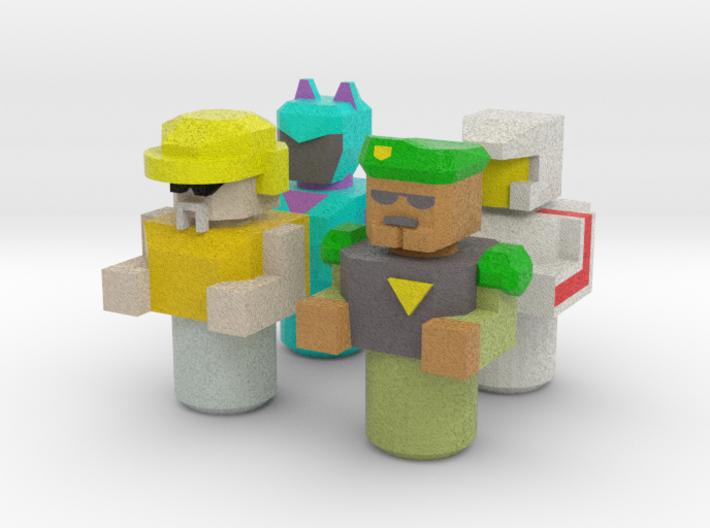 Battle Roller Pilots 3d printed
