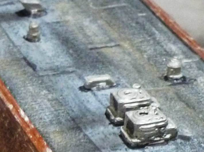 N Scale Roof Details - Vents, Stacks, Air Conditio 3d printed