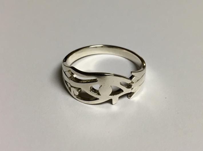 Eye of Horus Ring - Size 8 1/2 3d printed