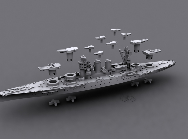 1/1800 IT BB Conte di Cavour [1940] 3d printed Computer software render