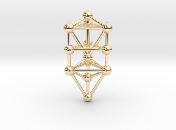 Small Triangular Tree of Life Pendant (no bail) 3d printed