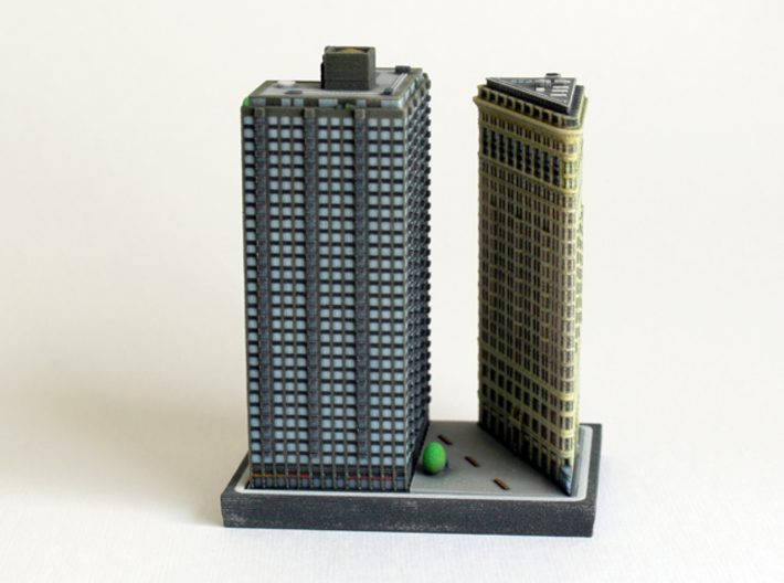 Flatiron Building New York 4 x 4 3d printed