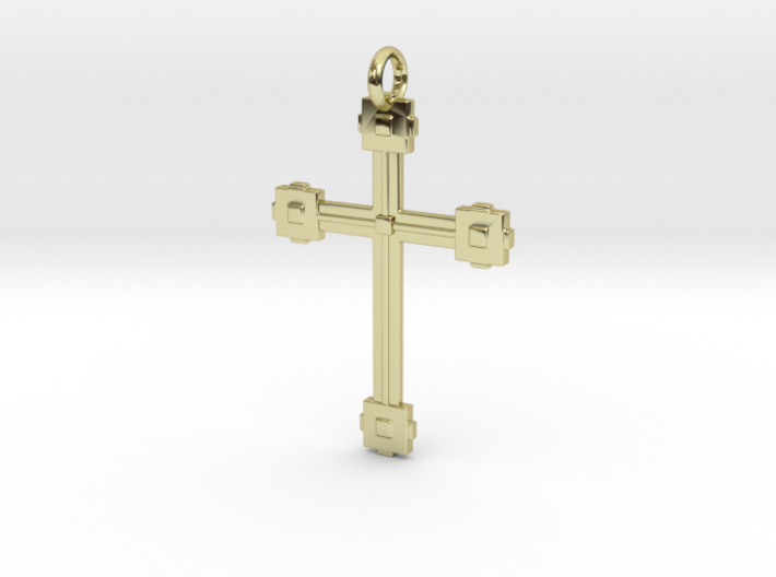 Cubed Cross 3d printed